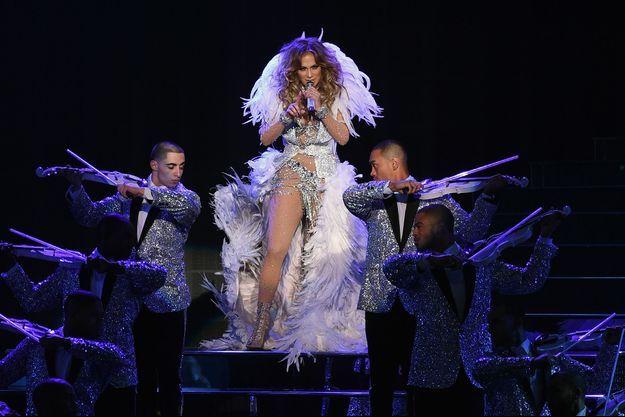Jennifer Lopez sur scène à Las Vegas.