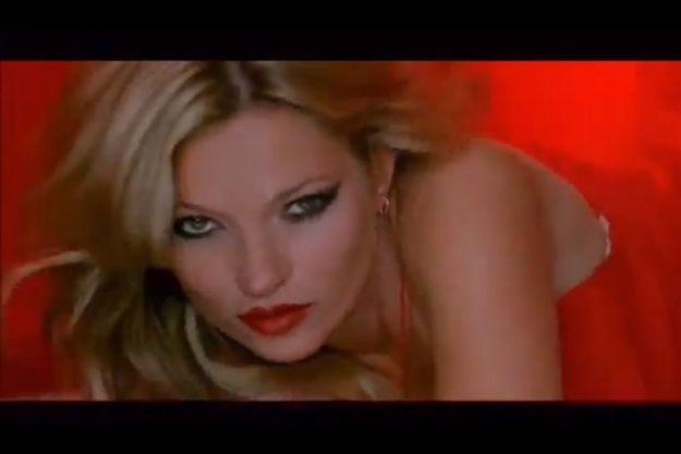 Kate Moss, dans la campagne publicitaire pour sa collection de rouges à lèvres