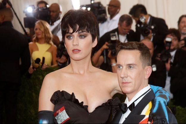 Katy Perry et Jeremy Scott au Met Gala à New York, le 4 mai dernier