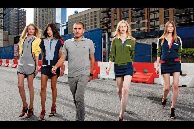 A New York, Felipe Oliveira Baptista, le nouveau créateur de Lacoste, jette les bases du chic urbain.