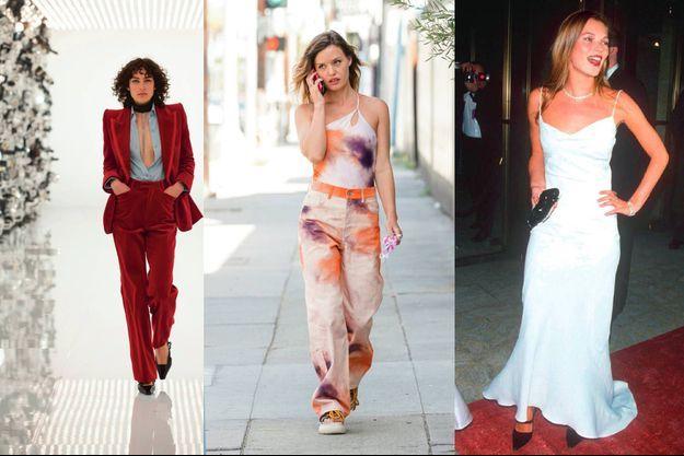 GUCCI Automne 2021. Georgia May Jagger en collection Colour Story de H&M (2021). Kate Moss en John Galliano (1995).