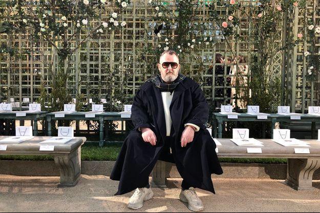 Michel Gaubert lors du défilé Chanel haute couture printemps été 2018