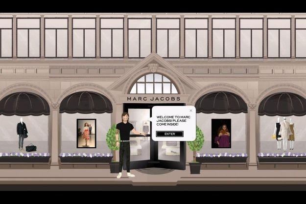 La page d'accueil du e-shop Marc Jacobs mis en ligne hier.