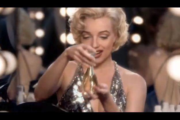 Marilyn Monroe dans la pub Dior.