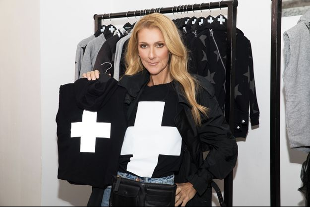 Céline Dion en Celinununu, la marque que la star a lancée sur internet.