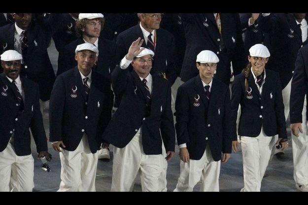 Les sportifs américains à la cérémonie d'ouverture des JO de Pékin en 2008 portaient déjà du Ralph Lauren.