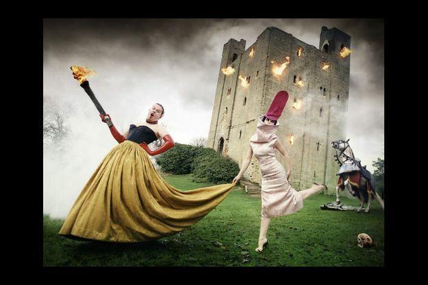 Portrait d'Alexander McQueen et de la styliste Isabella Blow pour «Vanity Fair».