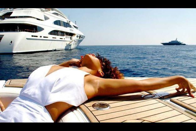 Rihanna lors de ses vacances à la Barbade l'été dernier.