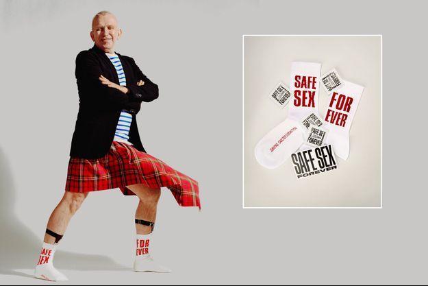 """Jean-Paul Gaultier et les chaussettes """"Safe sex forever"""""""
