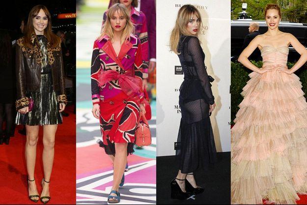 Suki Waterhouse : actrice, égérie et mannequin pour Burberry, glamour à souhait !