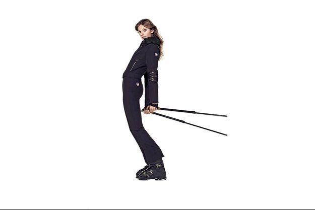 Le mannequin français Constance Jablonski incarne la collection hiver 2018.