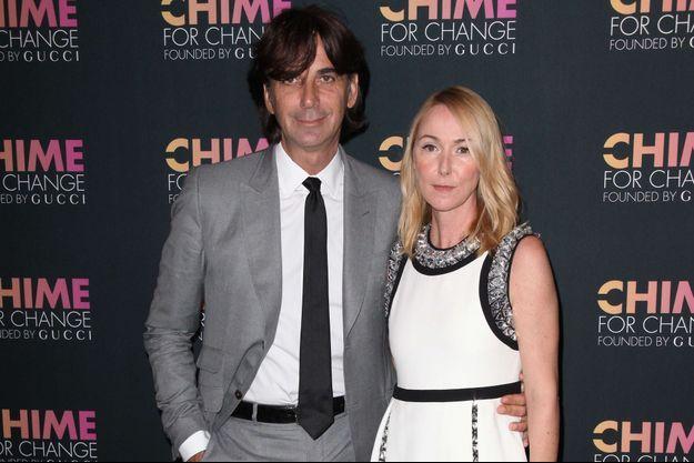 Patrizio di Marco et Frida Giannini à un événement Gucci, en juin 2014.