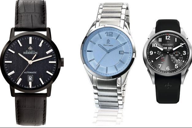 Les montres de chez Michel Herbelin, Pierre Lannier, et Pequignet