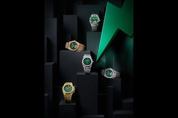 Une nouvelle série de Royal Oak ornées de cadrans verts.