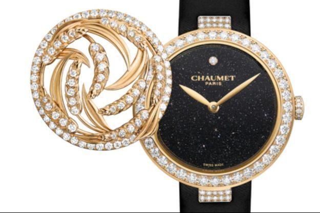 Une montre inspirée de la collection de Joaillerie Précieuse l'Epi de Blé de Chaumet.