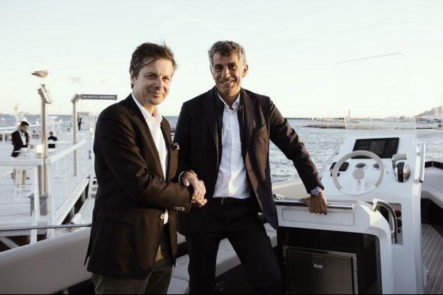 Jérôme Biard, CEO de Corum et Antoine Brugidou, CEO du chantier français