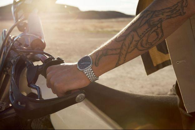 La dernière « masterpiece » horlogère de la marque Calvin Klein, la montre Squarely.