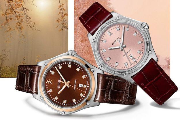 La collection Ebel Discovery 4 Seasons se révèle au travers de couleurs étincelantes pour embellir chaque époque de l'année.