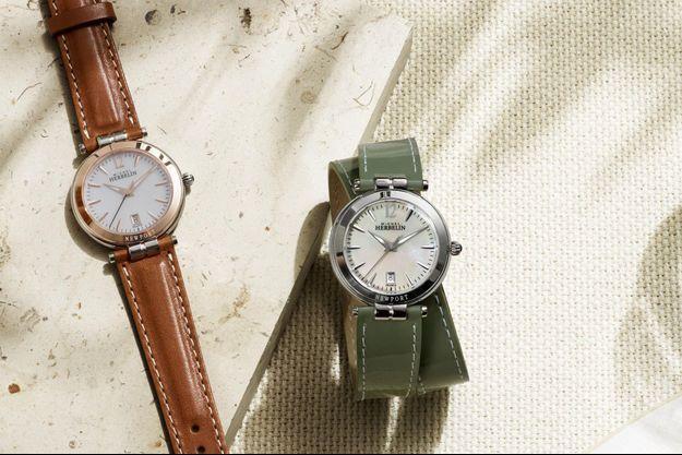 L'Atelier d'Horlogerie Française mise sur la couleur en habillant sa montre Newport Classics de nouveaux bracelets aux tons chics et raffinés