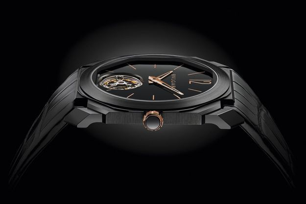Octo Finissimo Tourbillon, le plus plat de sa catégorie avec une boîte de 5 mm d'épaisseur et un mouvement de 1,95 mm.