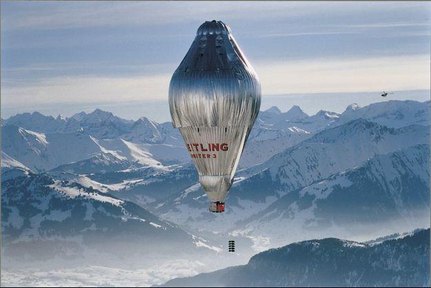 Le ballon Breitling Orbiter 3, le premier à accomplir un tour du monde sans escale, en 1999. À son bord, l'explorateur Bertrand Piccard, qui totalise aujourd'hui plus de 1 000 projets et solutions pour la planète.