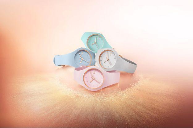 Les ravissantes montres Ice-Glam Pastel pour toujours plus de féminité, élégantes et raffinées.