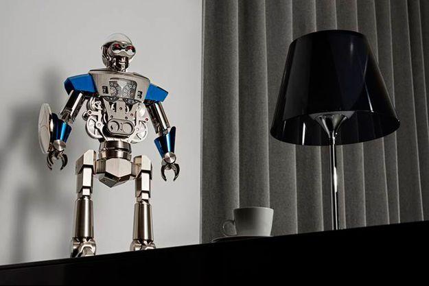 Balthazar, le robot horloge.