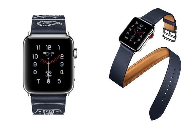 Associée à l'Apple Watch Séries 3 avec 4G intégrée, la maison Hermès agrandit sa collection de bracelets exclusifs et d'un nouveau cadran.