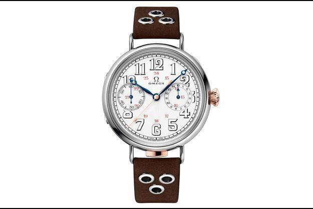 L'ambitieuse collection Premier chronographe-bracelet Omega Édition Limitée se compose de 18 pièces, chacune entraînée par un calibre CHRO 18''' original de 1913.