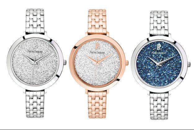 Trois des quatre nouveaux modèles de la collection Cristal Steel.
