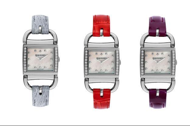 Différents modèles de montres Equus Attelage de Pequignet.