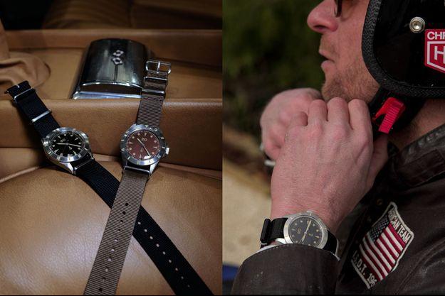 Le créateur de la marque BND-Watches voit ses montres comme une machine à remonter le temps