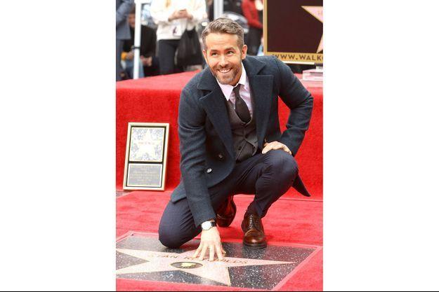 Ryan Reynolds a laissé son empreinte sur la très fameuse avenue des étoiles hollywoodienne