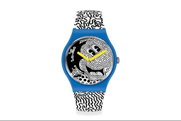 Une collection Swatch avec Mickey Mouse de Disney revisitée par l'esthétique caractéristique, les couleurs et l'énergie vive de Haring.