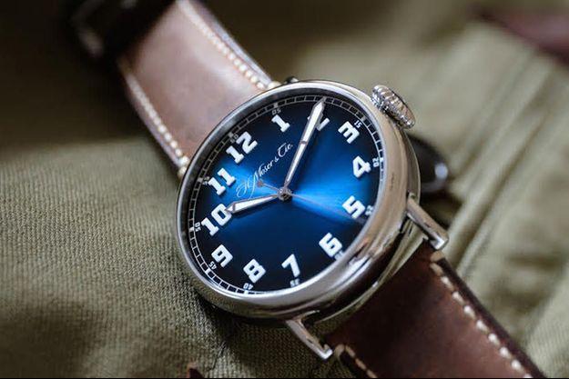 Le nouveau modèle de H. Moser & Cie, baptisé Heritage Centre Seconds Funky Blue.