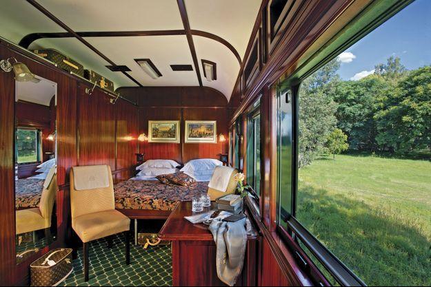 La simple cabine Pullman : 12 m2 est d'un luxe infini.