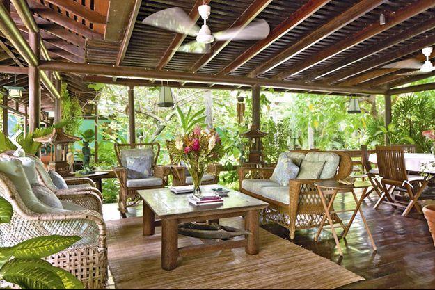 La résidence d'inspiration japonaise, dans l'archipel des Grenadines, ayant appartenu à Mick Jagger.