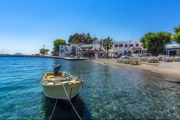 Vue de Patmos, en Grèce.