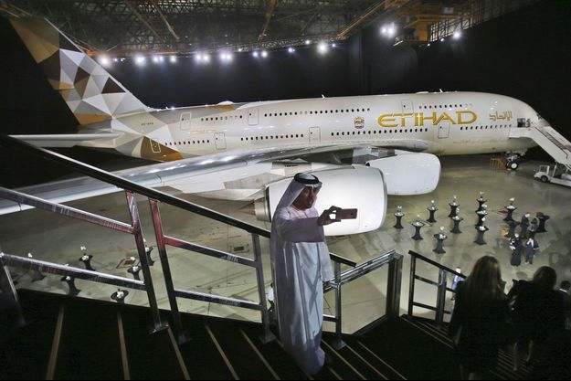 Un A380 de la compagnie Etihad Airways