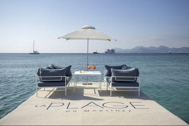 La plage du Martinez à Cannes