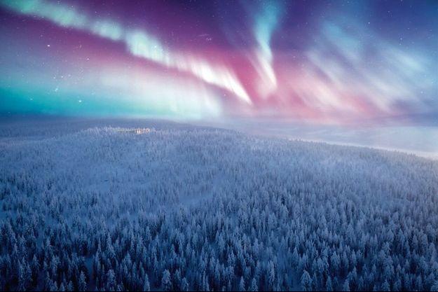 En Laponie finlandaise, les aurores boréales sont visibles plus de 200 nuits par an.