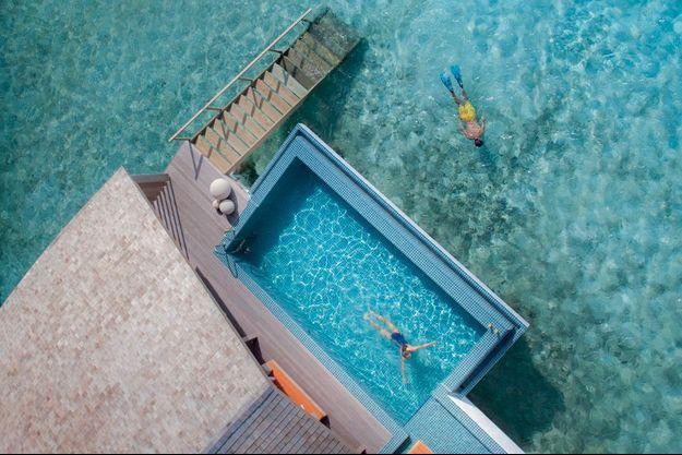 L'une des trente villas sur pilotis du dernier-né des Club Med.