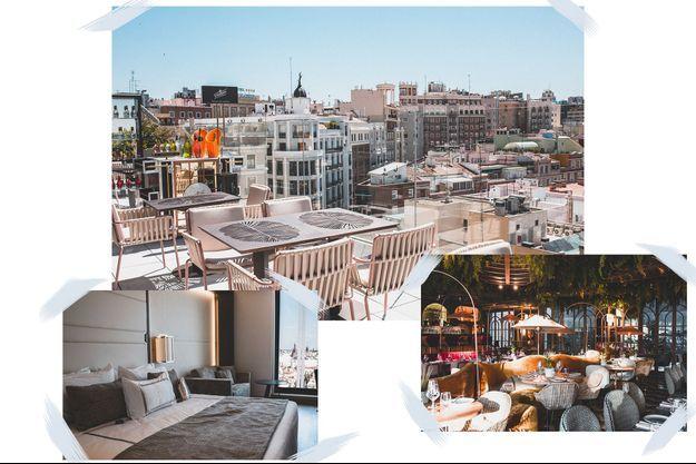 Vues de l'hôtel VP Plaza España Design, à Madrid.