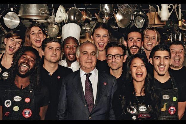 Serge Trigano (au centre) a misé sur un staff jeune et enthousiaste.