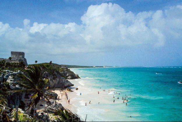 Tulum, ce spot ultrabranché qui domine la côte du Yucatan au Mexique.