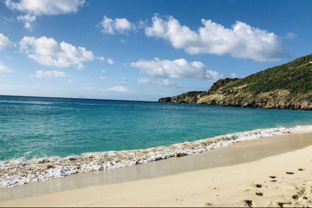 La plage de Gouverneur, à Saint Barth.