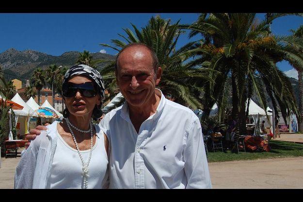 Marie-Reine de Jaham, organisatrice du festival et le député-maire de Menton, Jean-Claude Guibal.