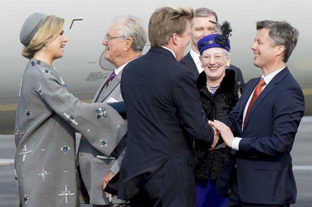 L'arrivée de Maxima et Willem-Alexander au Danemark