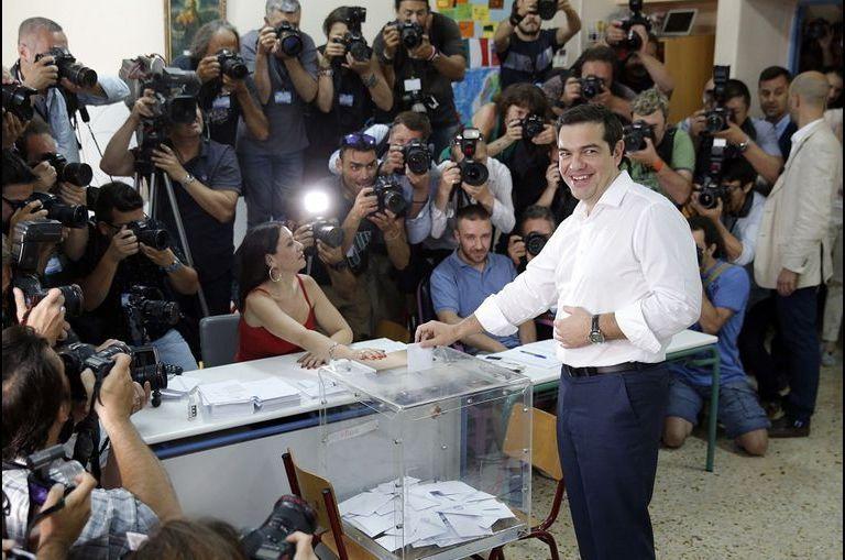 Tsipras a voté