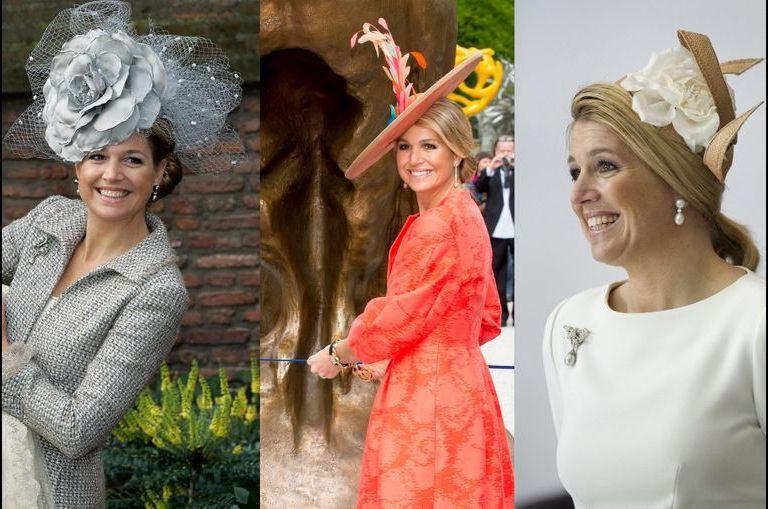 Royal style reine Maxima des Pays-Bas focus sur ses chapeaux rigolos en 30 photos